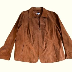 SUEDE 100% Leather Fall Terra Cotta JACKET 18 20